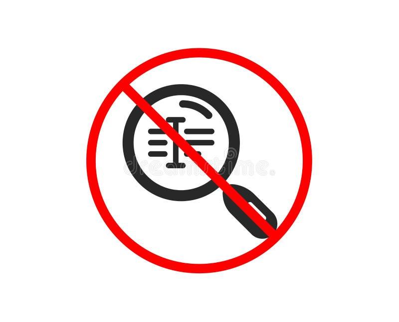 Rewizja teksta ikona Znaleziska s?owa znak wektor ilustracji