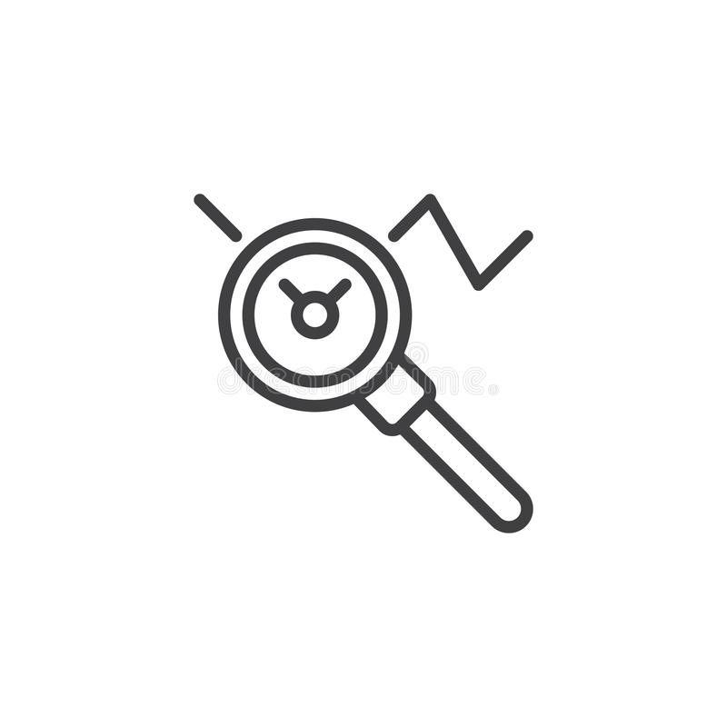 Rewizja wykresu konturu ikona ilustracji