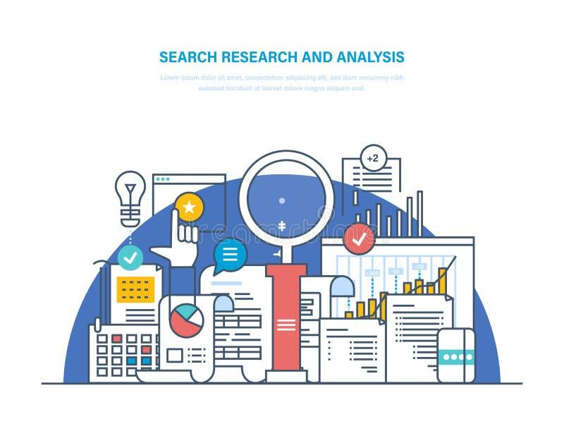 Rewizji analiza i badanie Rozwiązywanie problemów, dane analityka i badanie, ilustracji
