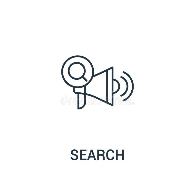 rewizji ikony wektor od reklam inkasowych Cienka kreskowa rewizja konturu ikony wektoru ilustracja Liniowy symbol dla używa na si royalty ilustracja