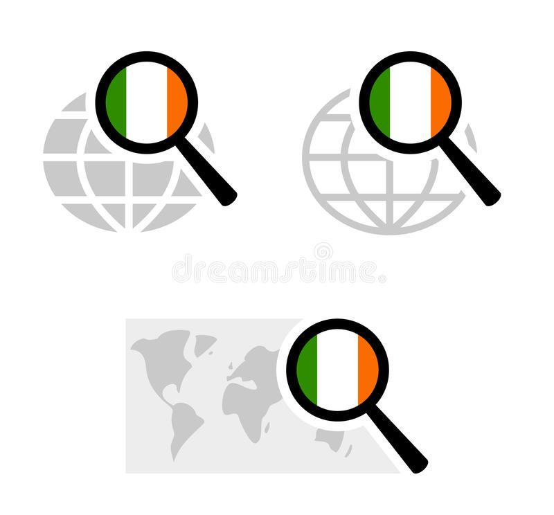 Rewizji ikony z irlandczyk flagą royalty ilustracja