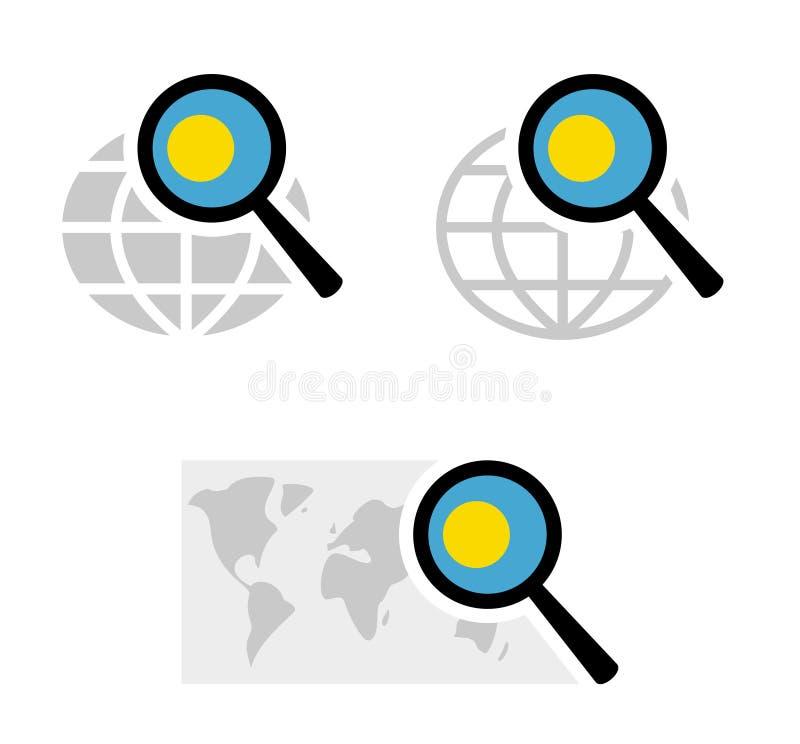 Rewizji ikony z Palau flagą royalty ilustracja