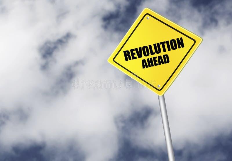 Rewoluci naprzód znak obrazy stock