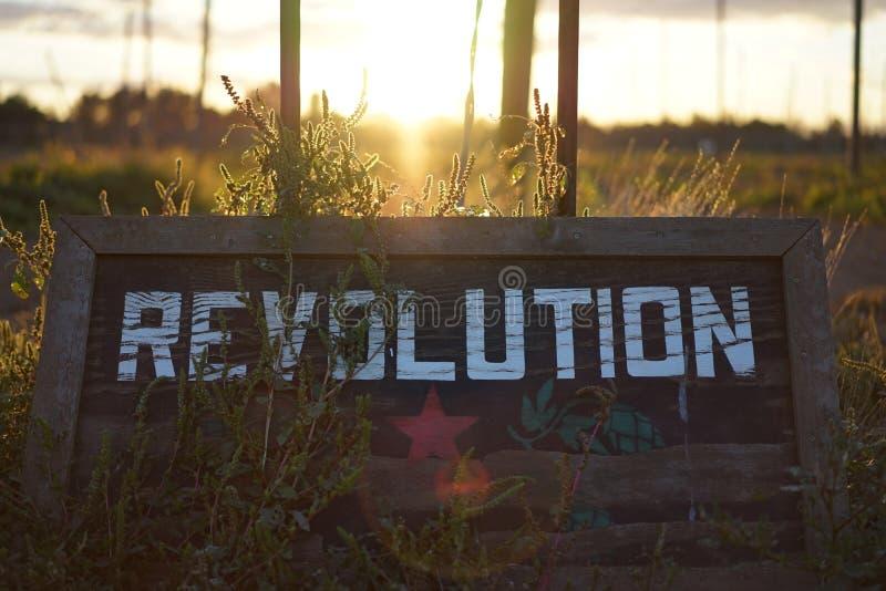 Rewolucja zmierzch obraz royalty free