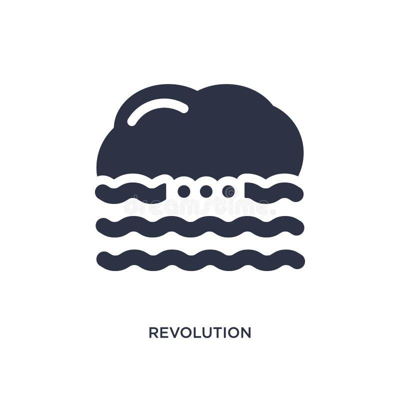 rewolucji ikona na białym tle Prosta element ilustracja od meteorologii pojęcia royalty ilustracja