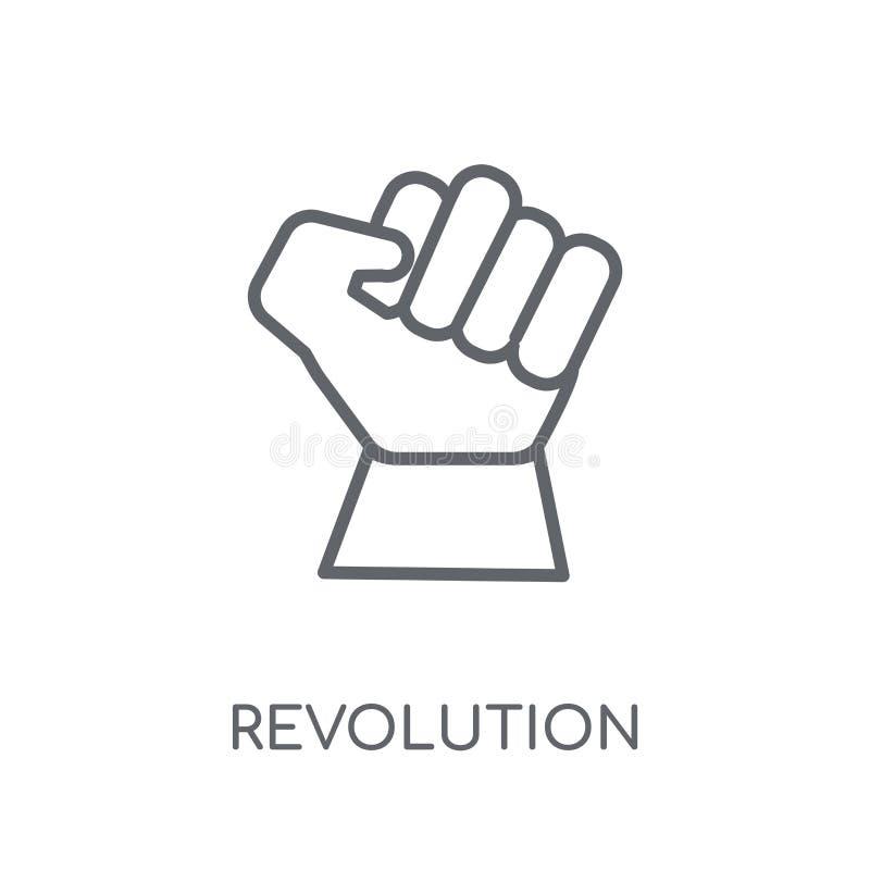 Rewolucji liniowa ikona Nowożytny kontur rewolucji logo pojęcie o royalty ilustracja