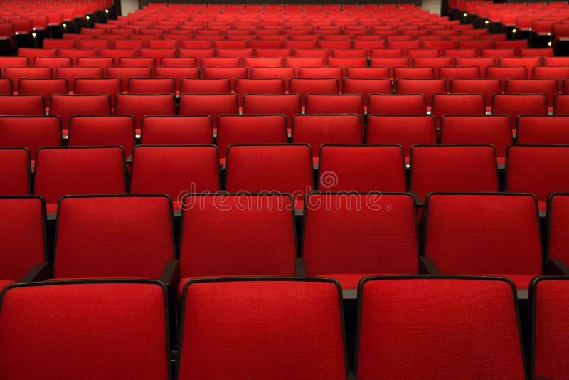 Rewolucjonistek krzesła w kinie zdjęcia stock