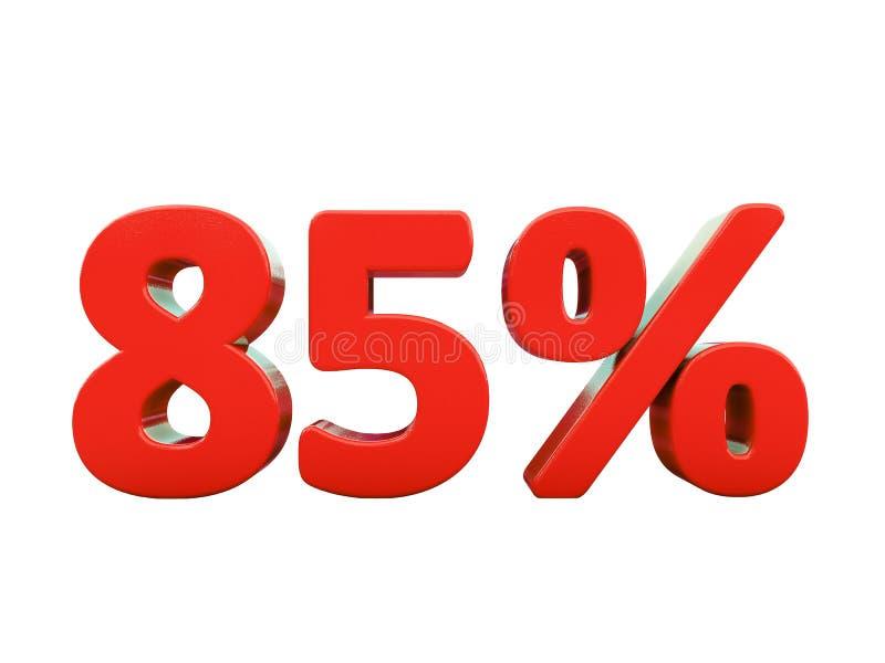 85 rewolucjonistek procentu znak Odizolowywający ilustracji