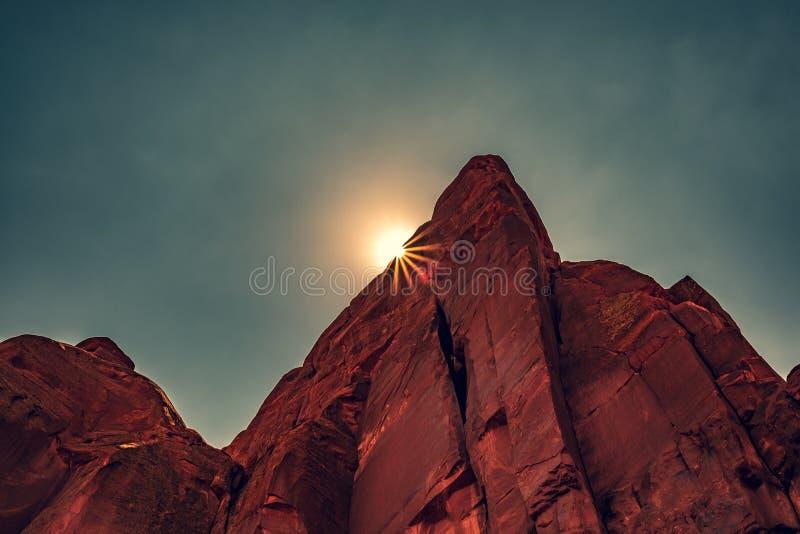 Rewolucjonistek skały, łuki parki narodowi, Moab, Utah obrazy royalty free