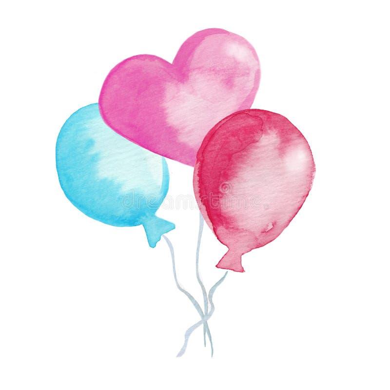 Rewolucjonistka balon beak dekoracyjnego latającego ilustracyjnego wizerunek swój papierowa kawałka dymówki akwarela ilustracji