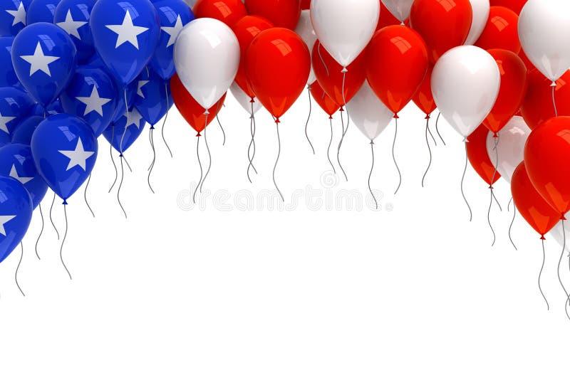Rewolucjonistka, biel i błękitów balonów tło, ilustracja wektor