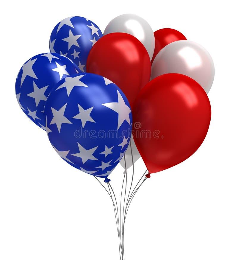 Rewolucjonistka biel i błękitny balony, ilustracji
