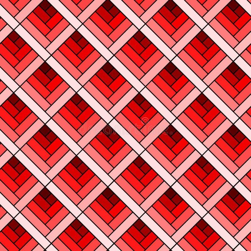 Rewolucjonistka Boksuje Geometrycznego Bezszwowego tło ilustracji