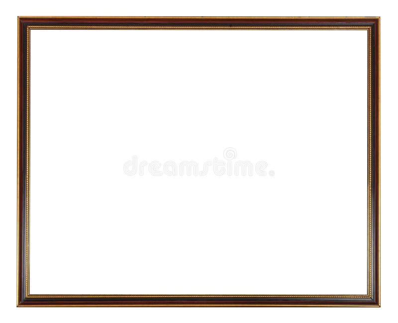 Rewolucjonistka, czerń i złoto malująca wąska obrazek rama, obraz royalty free