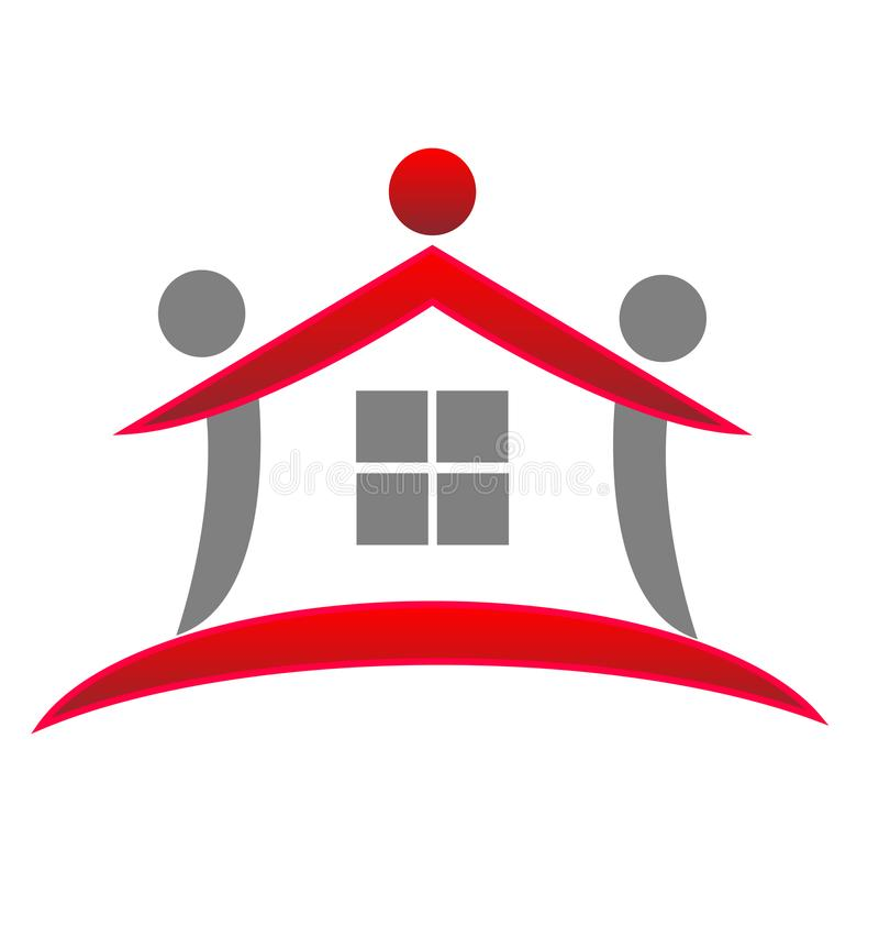 Rewolucjonistka domu modela abstrakt, nieruchomość loga wektor royalty ilustracja