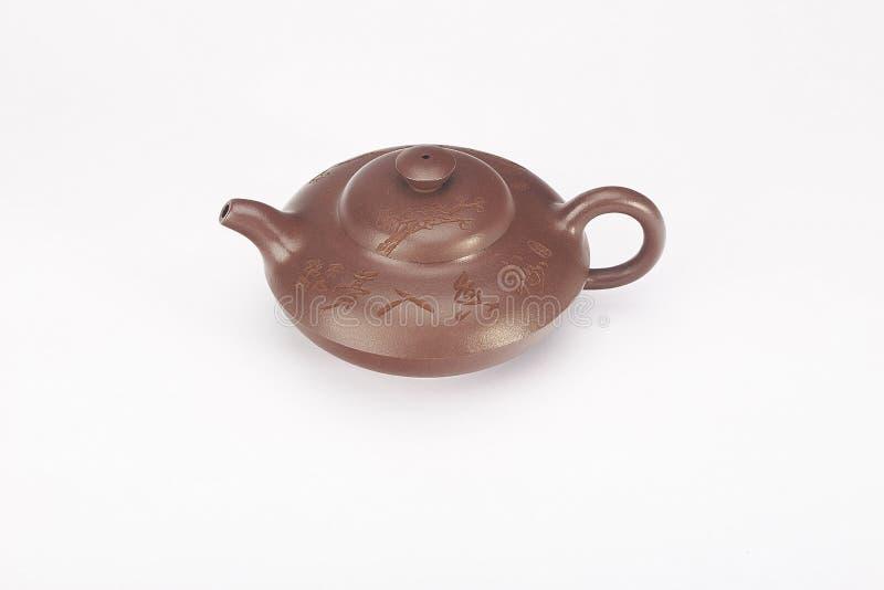 Rewolucjonistka emaliujący ceramiczny teapot zdjęcia royalty free
