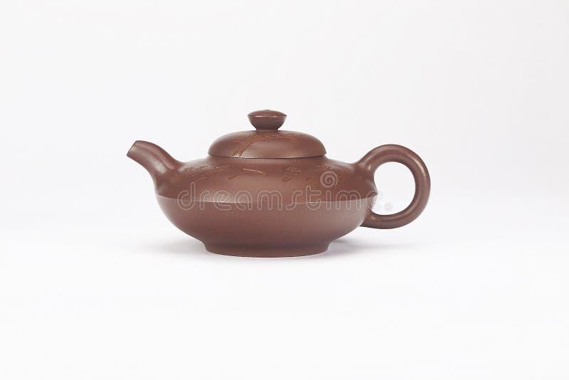 Rewolucjonistka emaliujący ceramiczny teapot obrazy royalty free