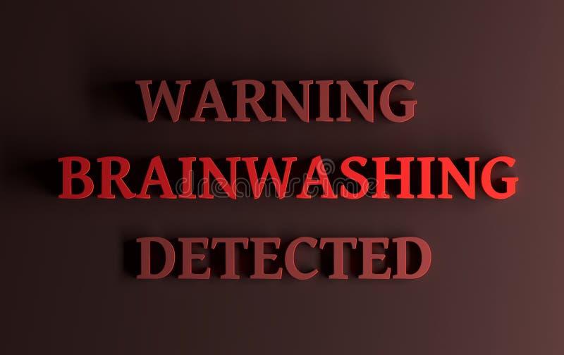 Rewolucjonistka formułuje ostrzeżenia Robić pranie mózgu wykrywam ilustracji