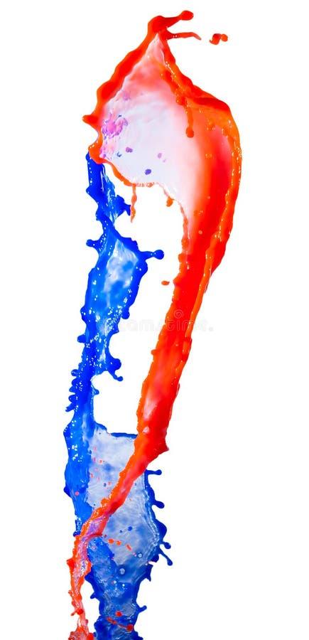 Rewolucjonistka i błękitny farby pluśnięcie zdjęcia stock