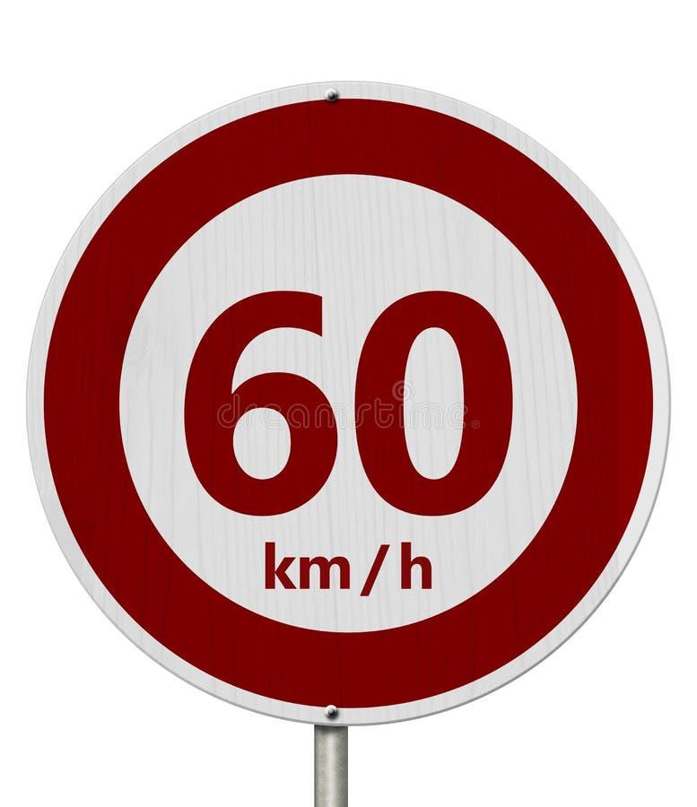 Rewolucjonistka i biel 60 km prędkości ograniczenia znak ilustracji