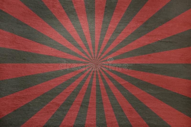 Rewolucjonistka i siwieje łupkowego tło z retro starburst - royalty ilustracja
