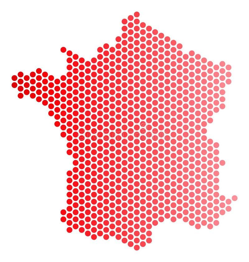Rewolucjonistka Kropkująca Francja mapa ilustracji