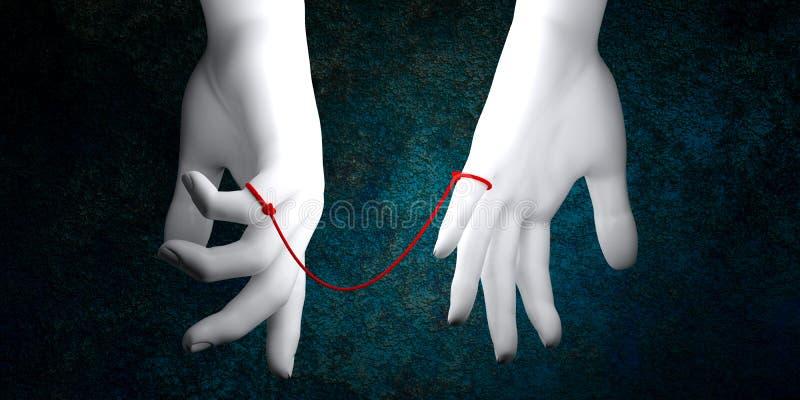 Rewolucjonistka sznurek przeznaczenie ilustracja wektor