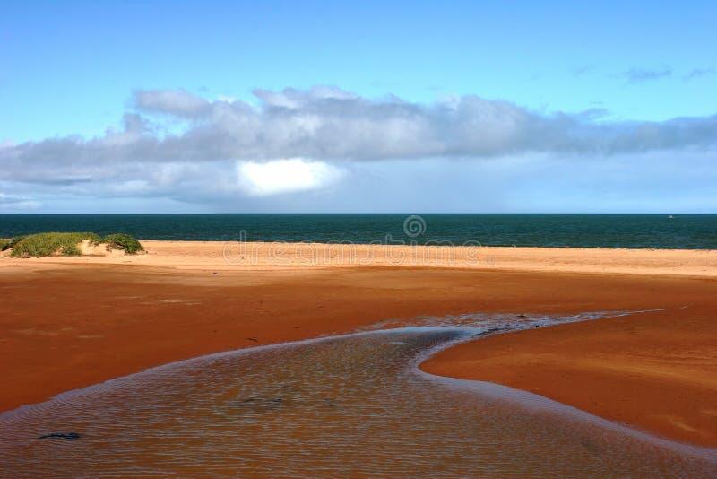 Rewolucjonistka uziemiający ocean przy Carnarvon i ujście fotografia royalty free