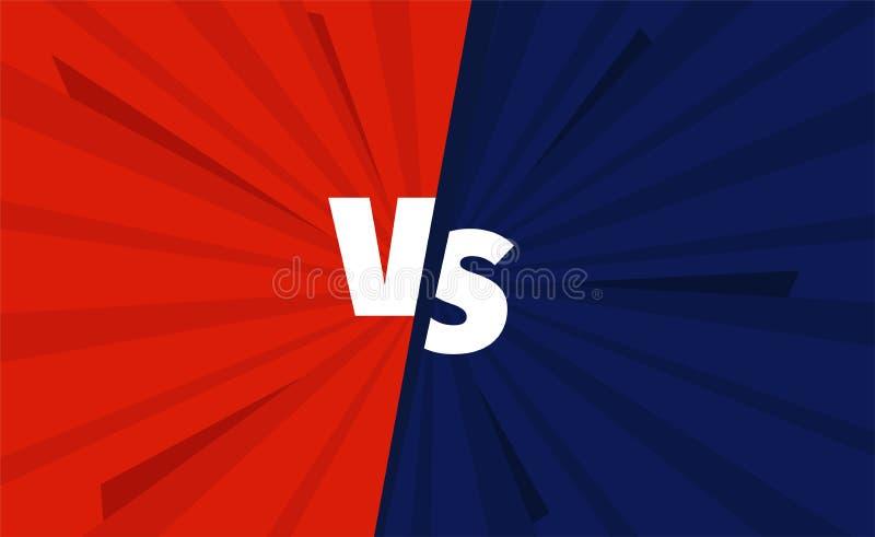 Rewolucjonistka VS błękit zespala się versus bitwa ekran Walk tła turniejowi royalty ilustracja