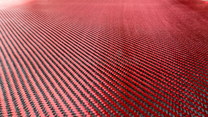 Rewolucjonistka wyplatający Czarny węgla włókna złożonego materiału tła zakończenie w górę widoku obrazy stock