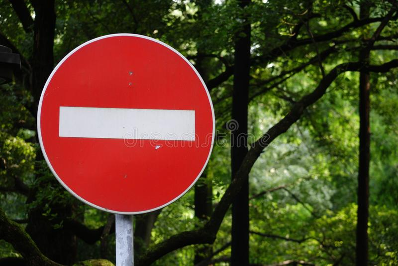Rewolucjonistka zakazujący ruch drogowy znak obraz royalty free