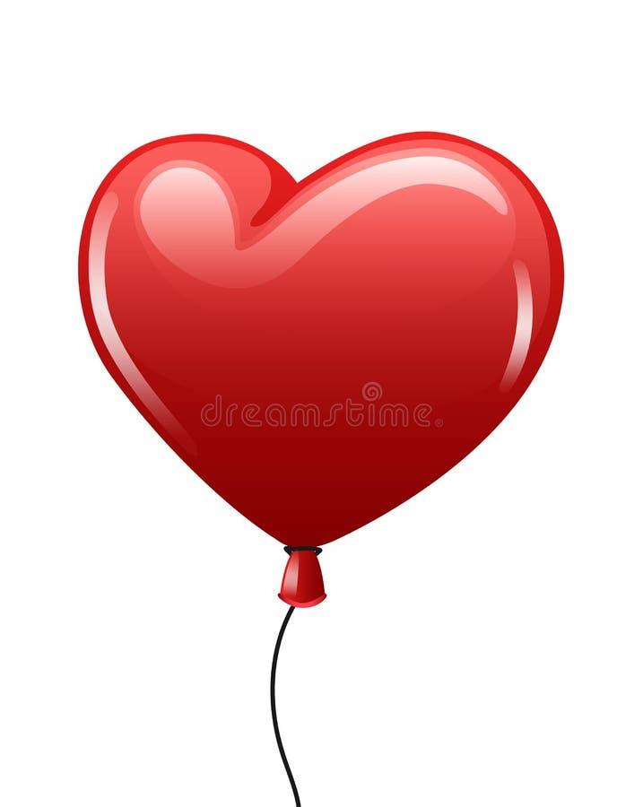 Rewolucjonistki balonowy serce na bielu ilustracji