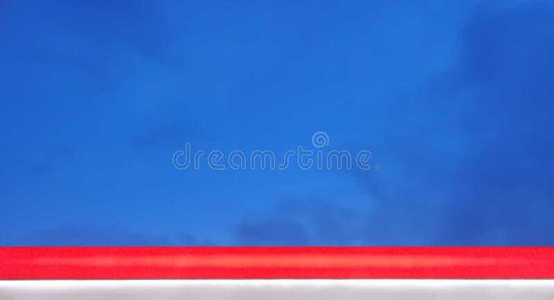 Rewolucjonistki, Białego i Błękitnego Patriotyczny koloru sztandar, obraz stock