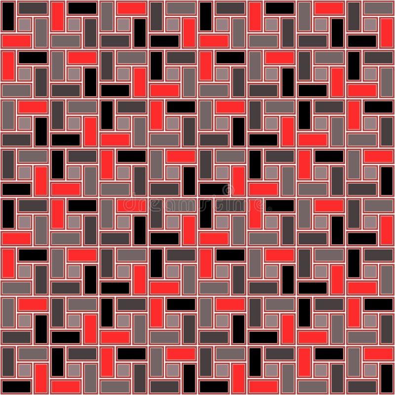 Rewolucjonistki cegły spirali płytki clockwise różowej tekstury bezszwowy wzór royalty ilustracja