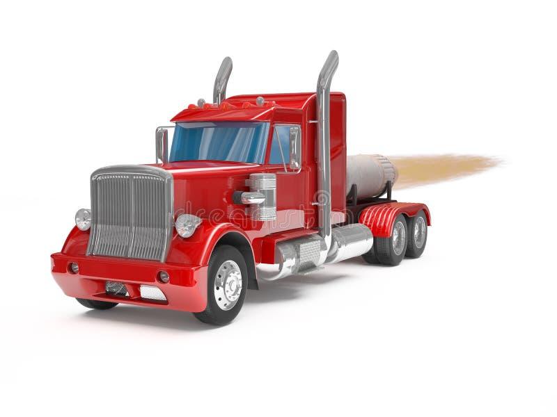 Download Rewolucjonistki ciężarówka ilustracji. Ilustracja złożonej z wahadłowiec - 28970306