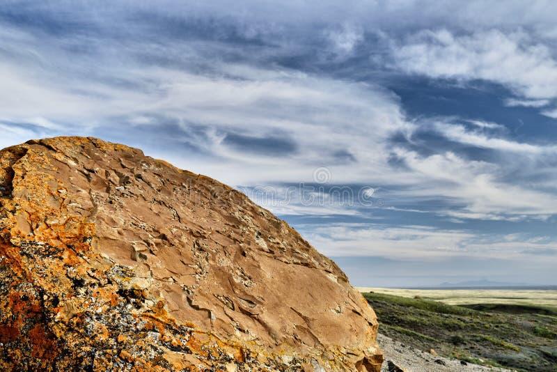 Rewolucjonistki Coulee Rockowy Naturalny teren fotografia stock