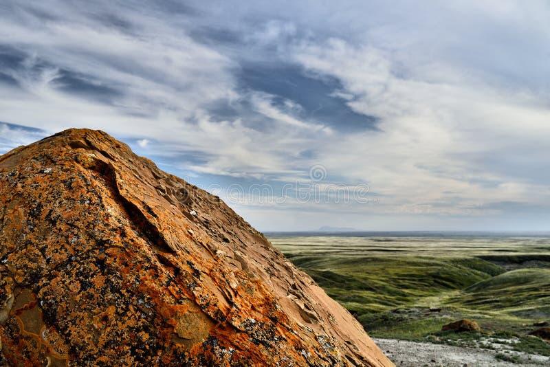 Rewolucjonistki Coulee Rockowy Naturalny teren obraz royalty free