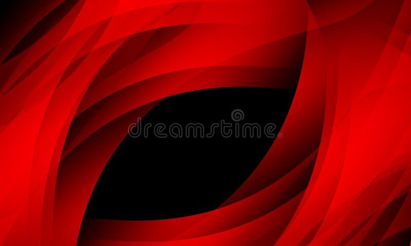 Rewolucjonistki fala na czarnym tle z o?wietleniowym skutkiem, g?adka, koszowa, wektorowa ilustracja, ilustracji