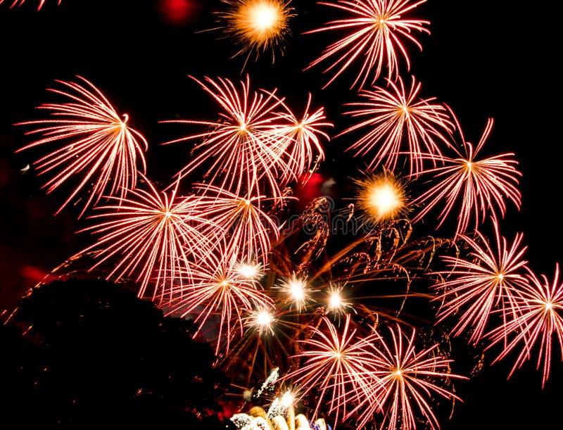 Rewolucjonistki gwiazdy wybuchy fajerwerki spektakularni obrazy royalty free