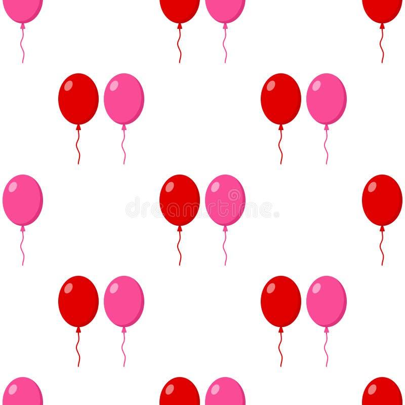 Rewolucjonistki i menchii balonów Bezszwowy wzór royalty ilustracja