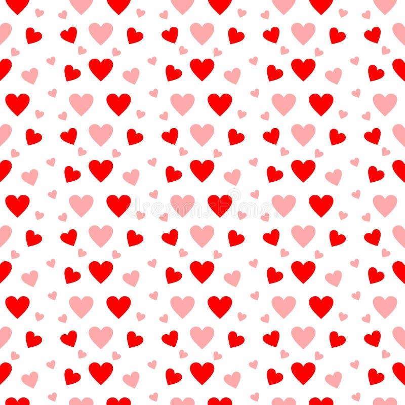 Rewolucjonistki i menchii serca w bezszwowym wzorze na bielu ilustracja wektor