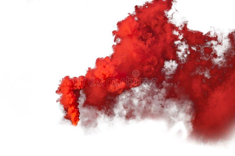 Rewolucjonistki i pomarańcze dym odizolowywający na białym tle zdjęcie stock
