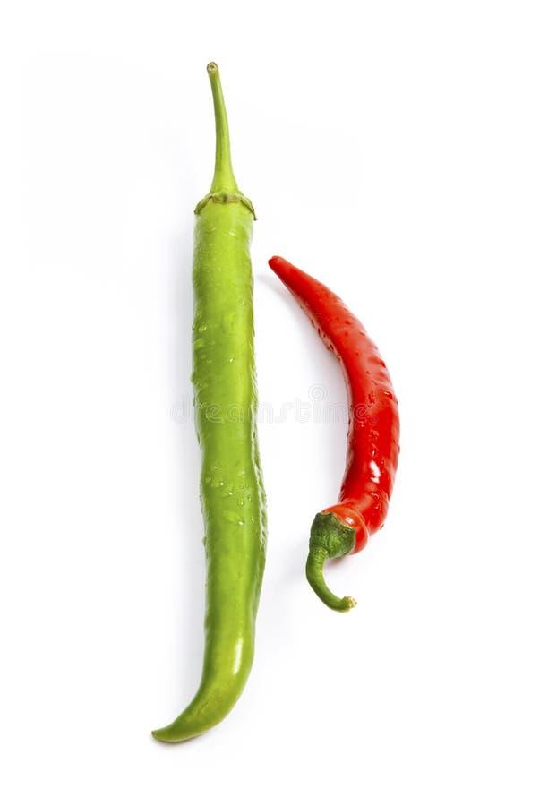 Rewolucjonistki i zieleni chili pieprzu skład zdjęcie royalty free