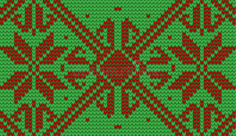 Rewolucjonistki i zieleni płatka śniegu trykotowy tło ilustracja wektor