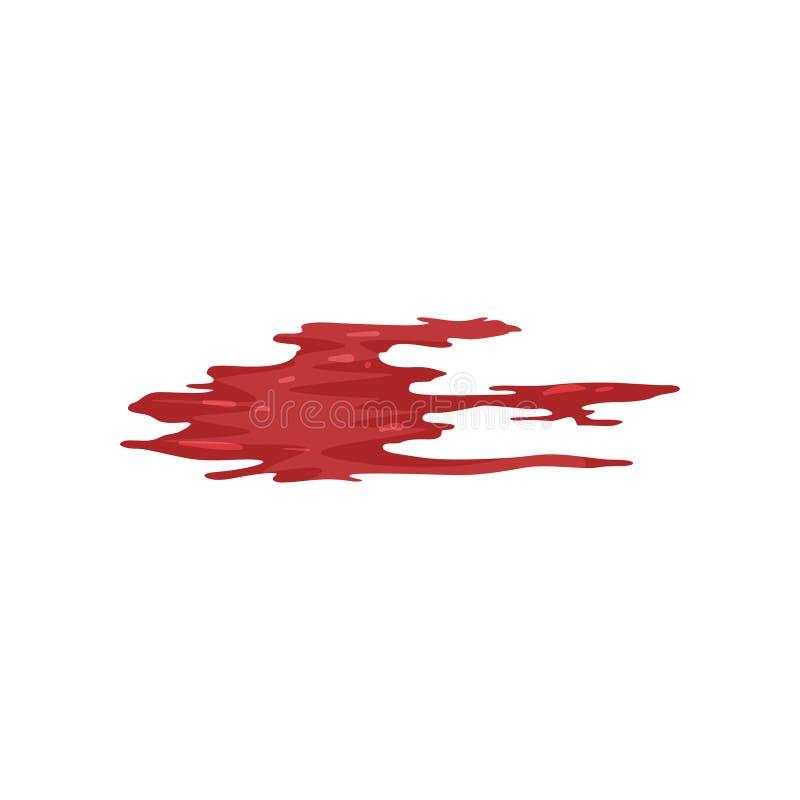 Rewolucjonistki muśnięcia uderzenie, krwionośnego śladu wektorowa ilustracja na białym tle ilustracji