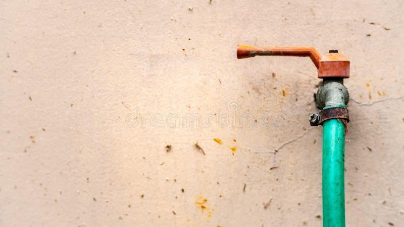 Rewolucjonistki ogrodowy faucet i Zielona gumowa tubka obrazy royalty free