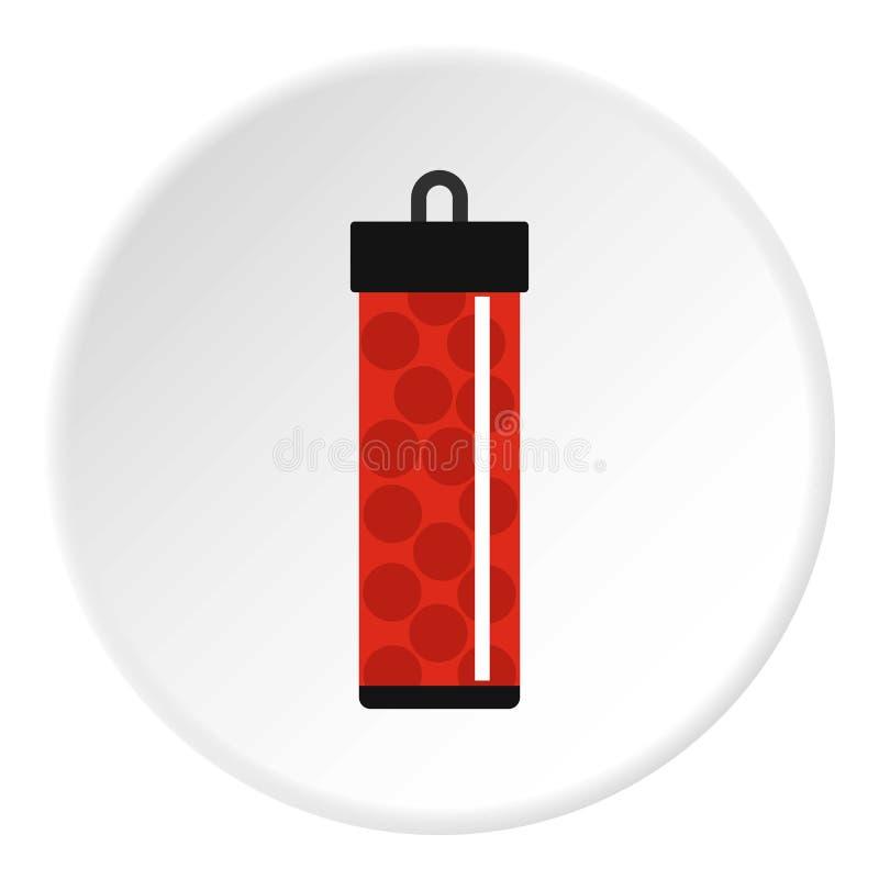 Rewolucjonistki paczka z paintball pocisków ikony okręgiem ilustracji