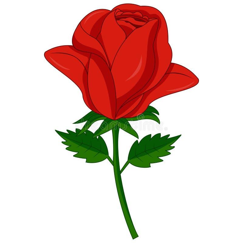 Rewolucjonistki róży kreskówka royalty ilustracja