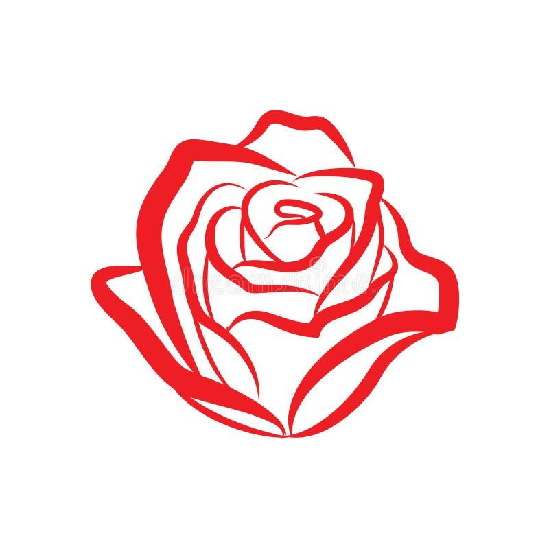 Rewolucjonistki róży kwiatu tatuażu kreskowej sztuki wektorowy projekt ilustracji
