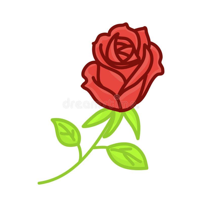 Rewolucjonistki róży odosobniona ilustracja ilustracji